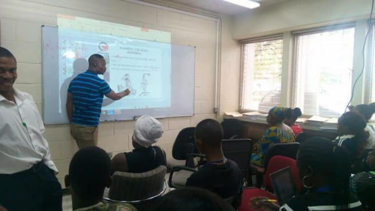 a facility management training session in progress
