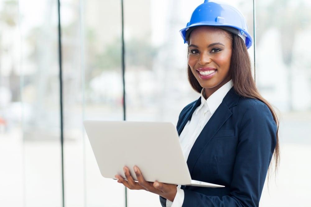 black american worker woman