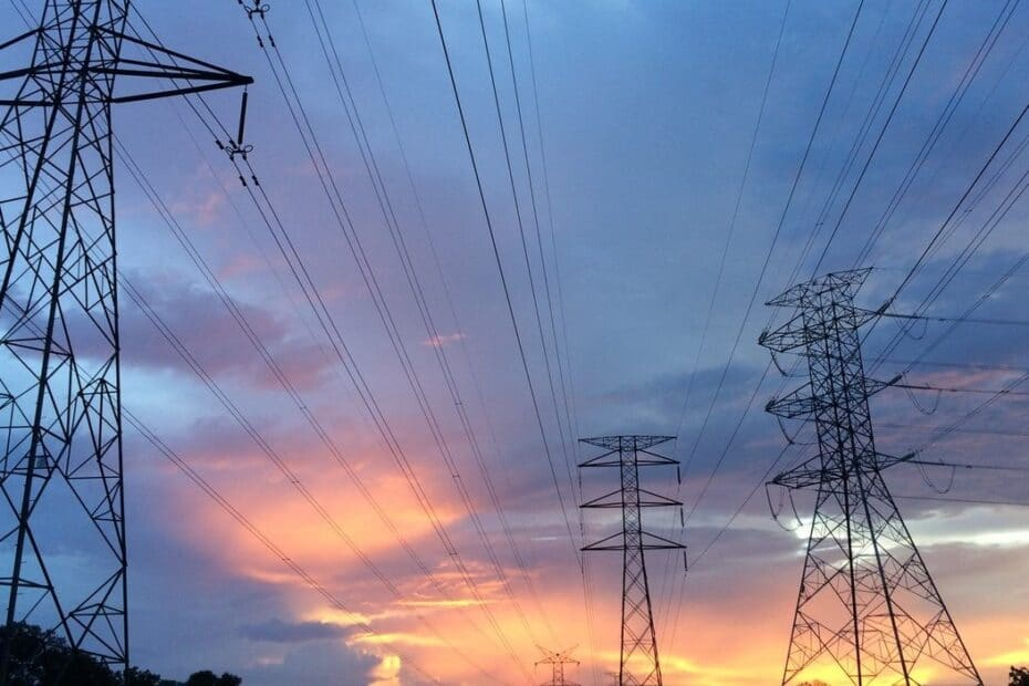 energy poles and wires - power lines