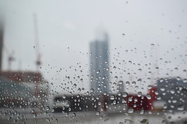 a picture of rain drops on a window