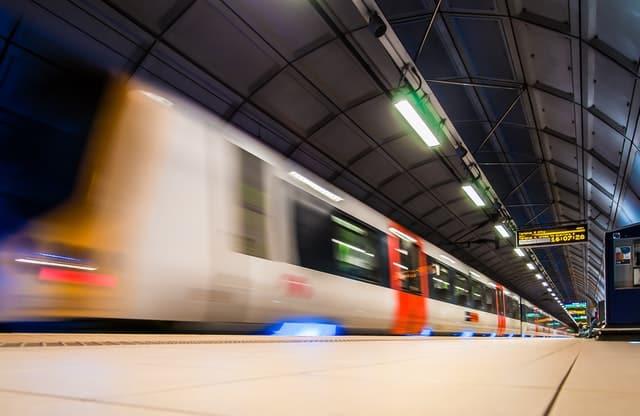 a train in transit