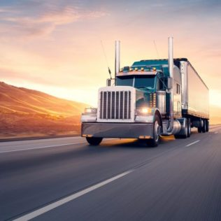 an image of a freight truck - sourcing and procurement, and logistics